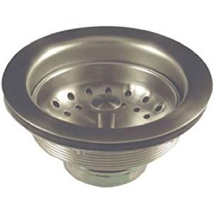 """Danco 3-1/2"""" Kitchen Sink Metal Basket-Strainer Assembly, Brushed Nickel, 89302"""